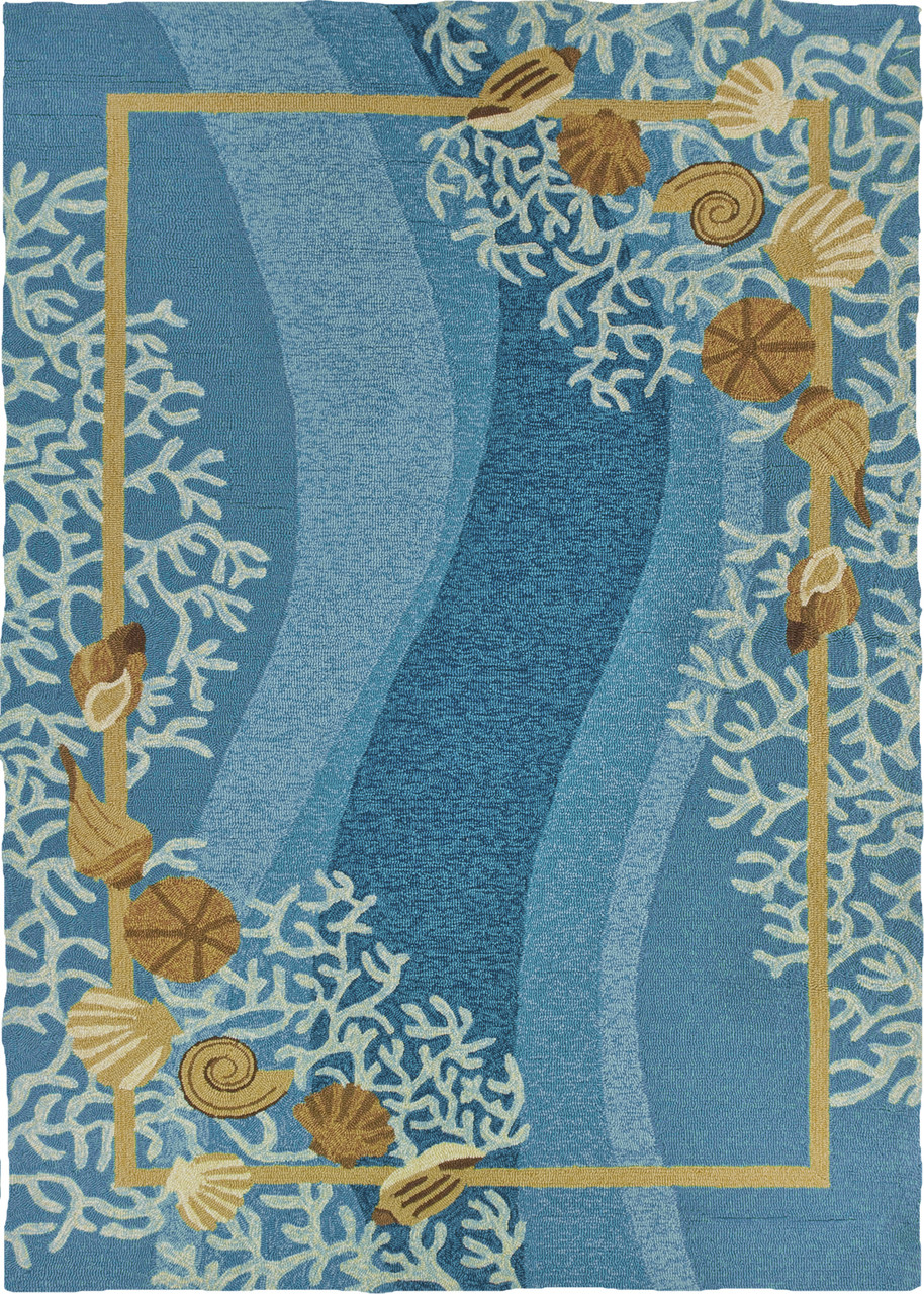 Shells White Coral Indoor Outdoor Area Rug 8 X 10