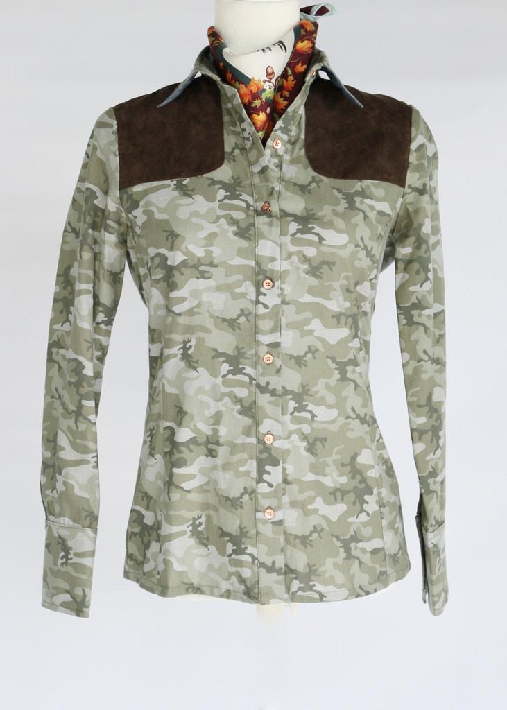 Women's shooting shirt in camo