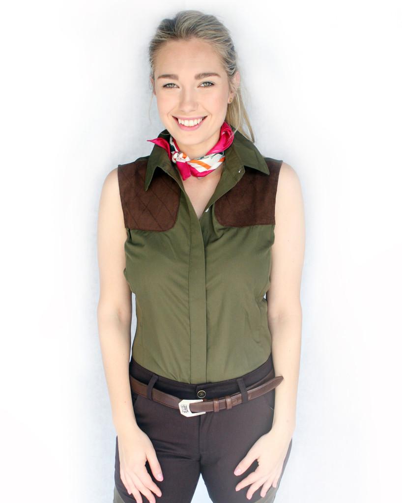 Green Sleeveless Shooting Shirt