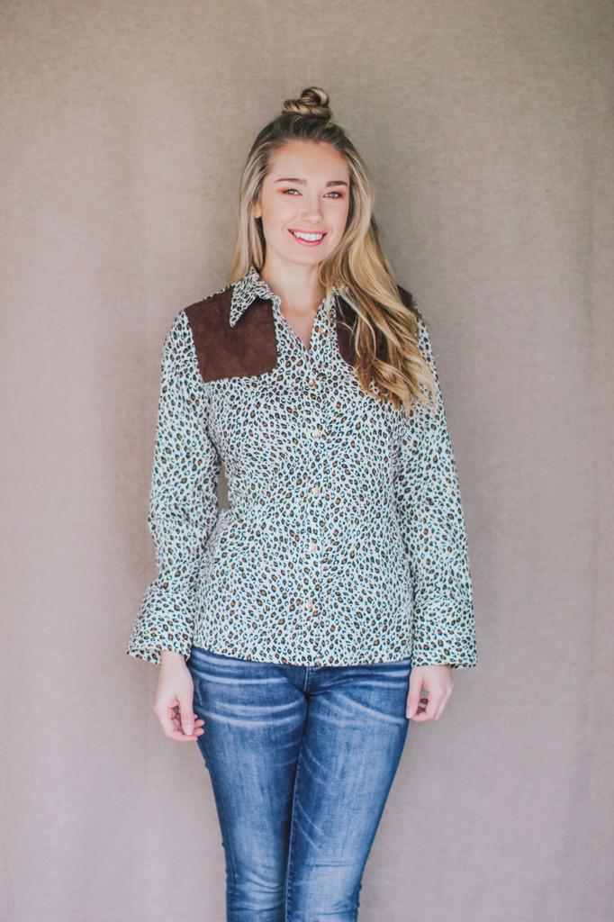 Piper long sleeve shirt in Animal Print