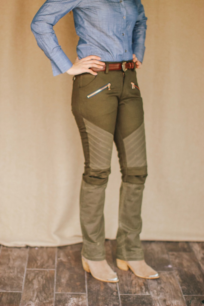 McKenna Quinn Upland Pants in Dark Green