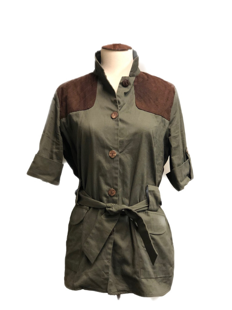 McKenna Quinn Safari Shirt in Green