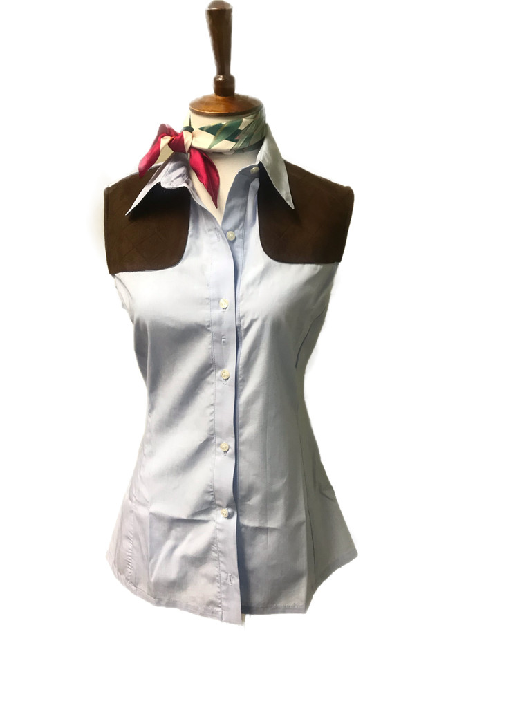 Baby Blue Sleeveless Shooting Shirt