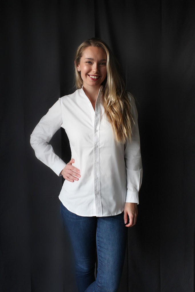 McKenna Quinn Ladies' Long Sleeve Oxford Shirt in White