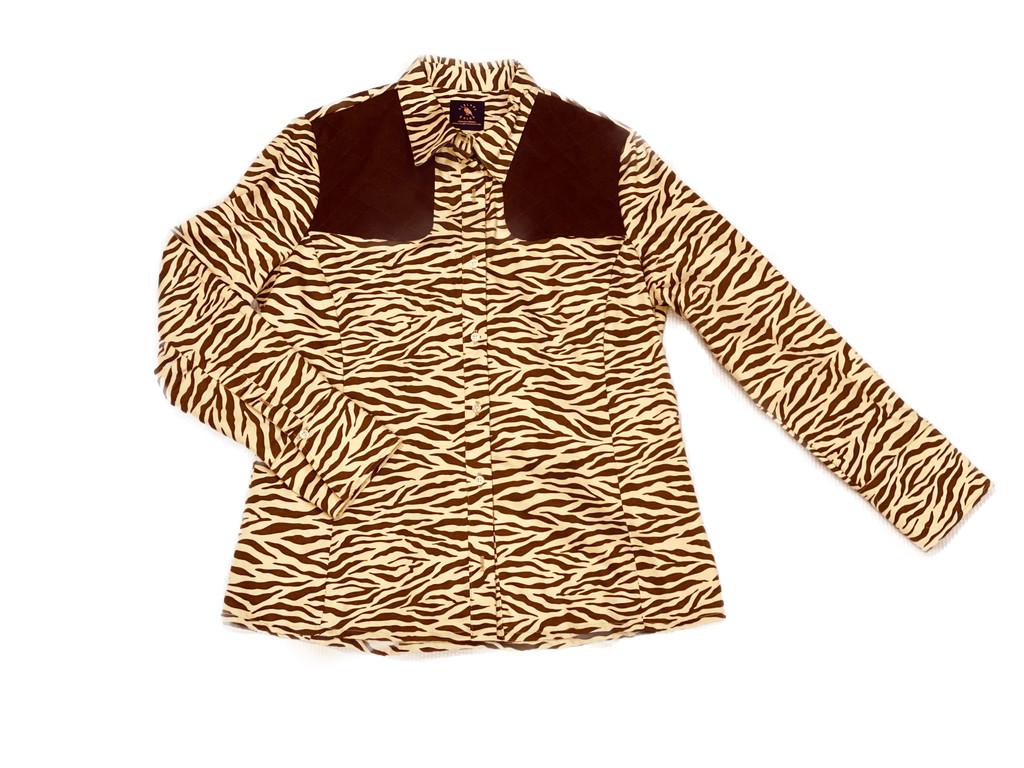 Piper Long Sleeve Shirt Zebra Print