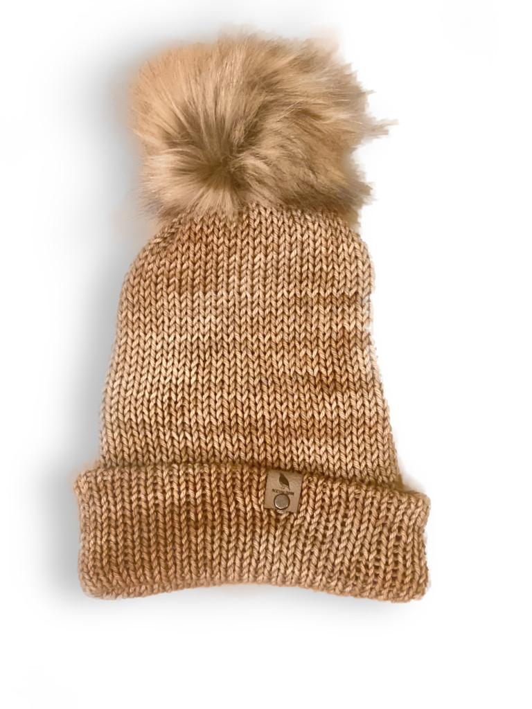 Light Brown Merino Wool Beenie