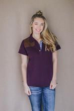 McKenna Quinn Polo Shirt in Burgundy