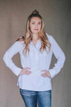Women's fishing shirt in white