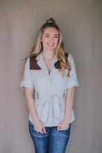 McKenna Quinn Safari Short Sleeve Shirt in Khaki