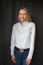 McKenna Quinn Long Sleeve Oxford Shirt in Gray