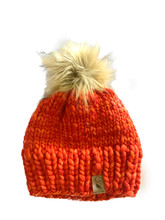 Orange Merino Wool Beenie