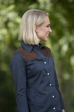 Piper Navy Polka Dot Long Sleeve Shooting Shirt