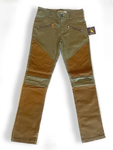 Upland Pants in Green with Brown Wax