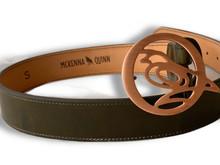 Olive Green Quail Buckle Belt
