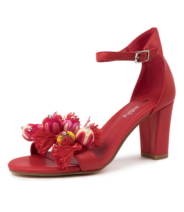GROLLO RED SANDALS