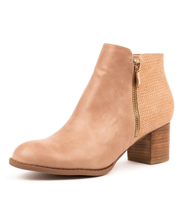 JUSTEN BLUSH ANKLE BOOTS