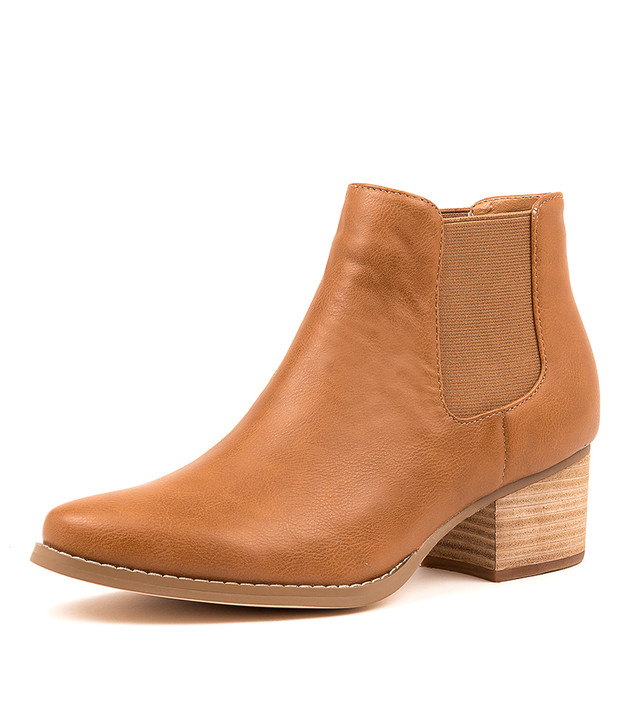 LEISY RICH TAN ANKLE BOOTS
