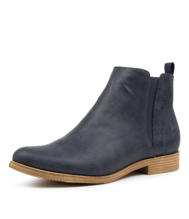KENLEY NAVY ANKLE BOOTS