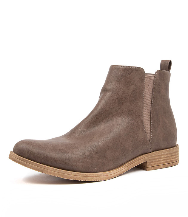 KENLEY DARK TAUPE ANKLE BOOTS