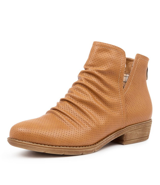 RIDLEY RICH TAN ANKLE BOOTS