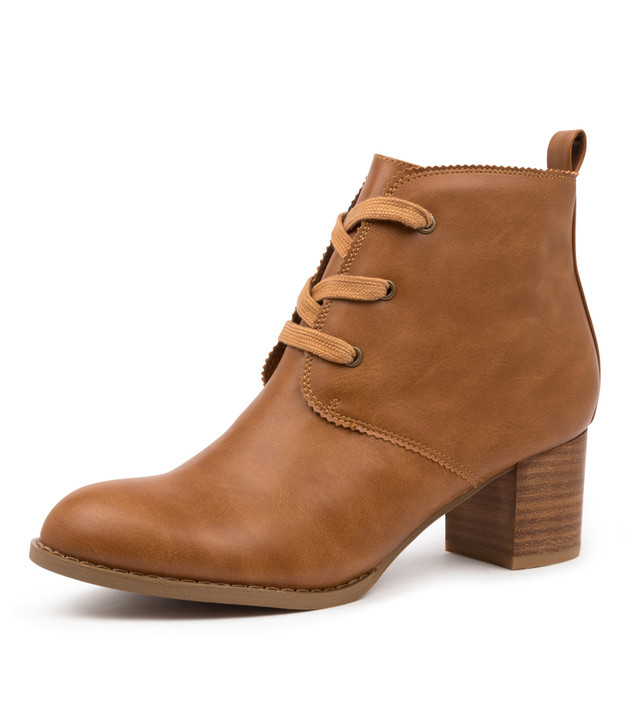 JOVIE TAN ANKLE BOOTS