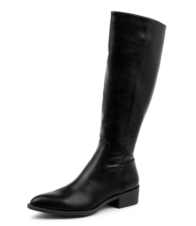 SEABISCUIT BLACK KNEE HIGH BOOTS