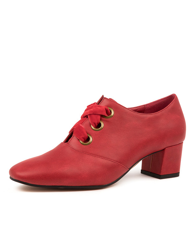 HUDA RED ANKLE BOOTS