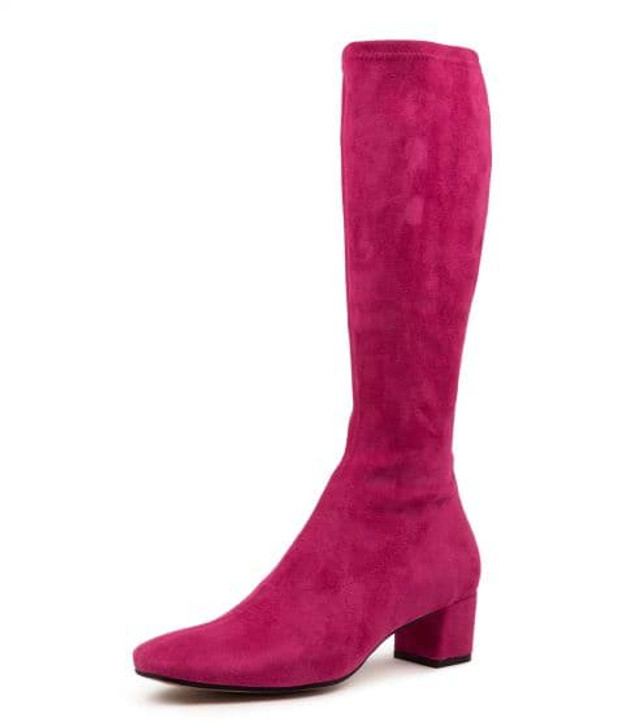 HOYTY FUCHSIA MICROSUEDE BOOTS