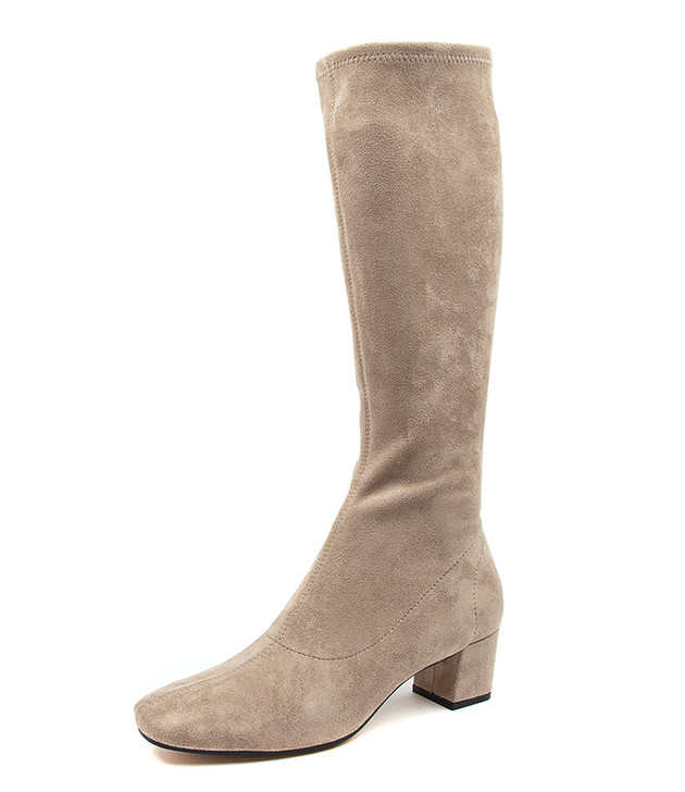 HOYTY TAUPE MICROSUEDE BOOTS