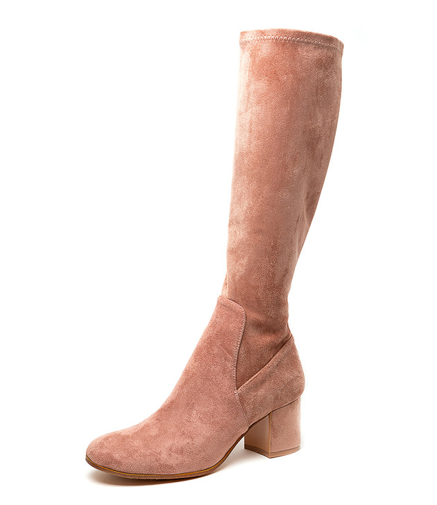 NEOLAS BLUSH STRETCH MICROSUEDE KNEE HIGH BOOTS