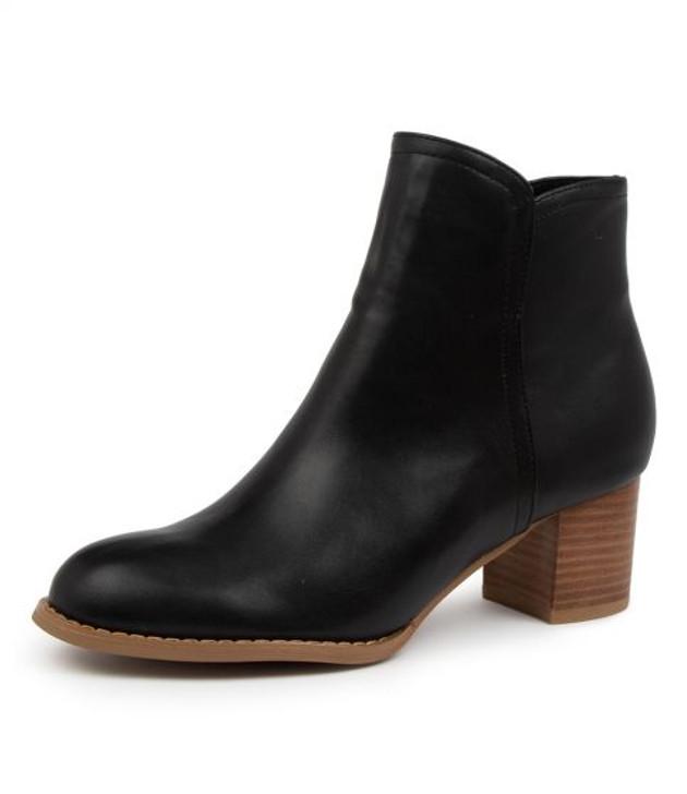 JAYA BLACK ANKLE BOOTS