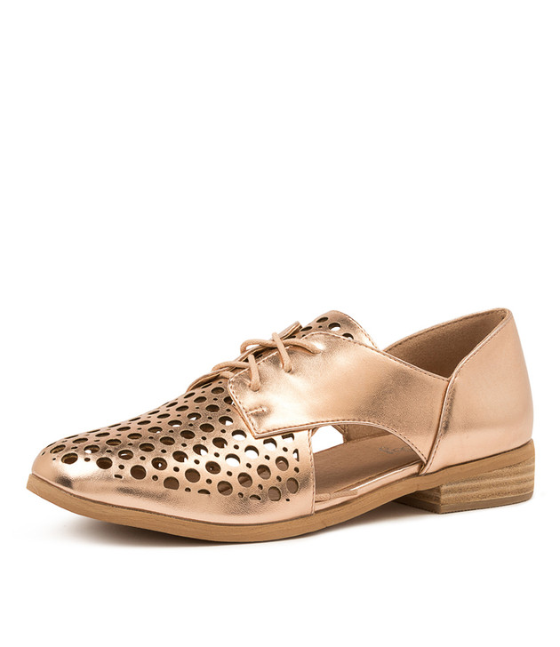 QUIETLY ROSE GOLD FLATS