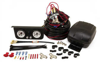 Polyair, WIRED COMPRESSOR KIT (TWIN GAUGE SINGLE PATH). Fits All Polyair Airbags for all car models