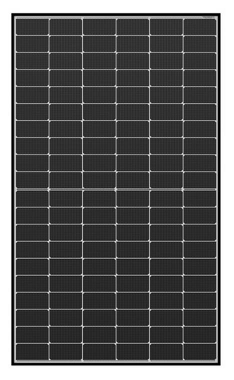 Qcells 325 Watt Mono Half Cell Solar Module Black frame White back 32mm