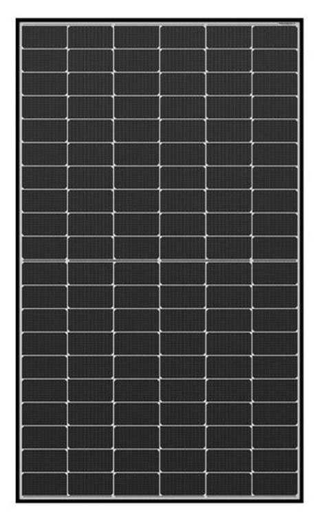 Qcells 330 Watt Mono Half Cell Solar Module Black frame White back 32mm