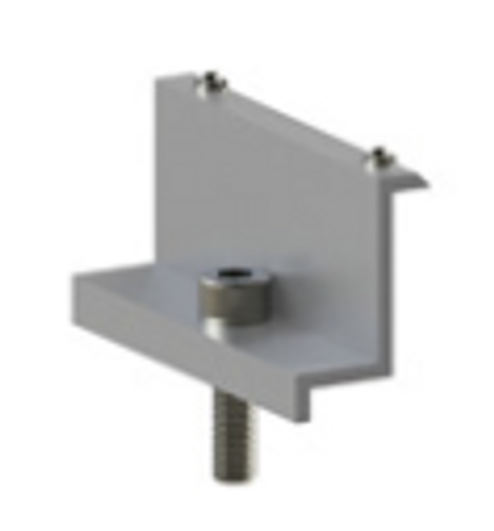 Aerocompact End-Clamp 80/30 with grounding pins