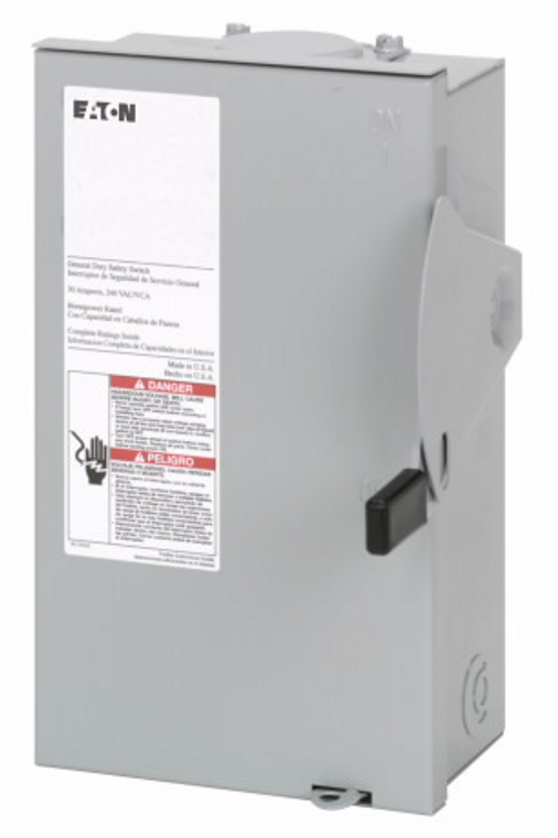 Eaton - DG221NRB  30A Fused AC Disconnect