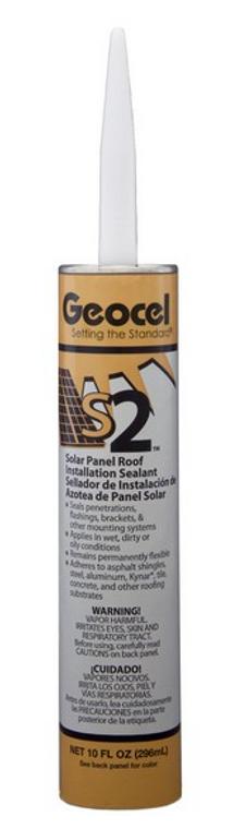Geocel GC62700 S2 Solar Caulk 10oz Clear