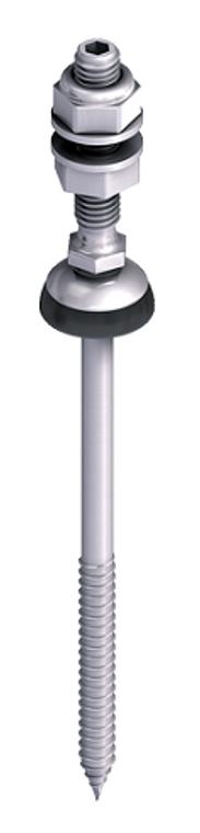 """EJOT JA3-SB-8.0 x 80/50 FZD 5.3"""" Metal Roof Solar Fastner for Wood"""