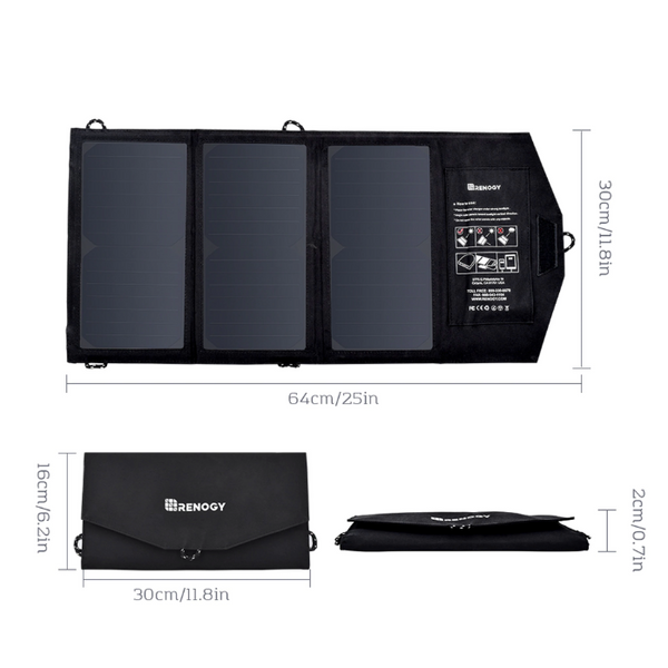 Renogy Panneau solaire Pliable avec Port d'alimentation 21 watts