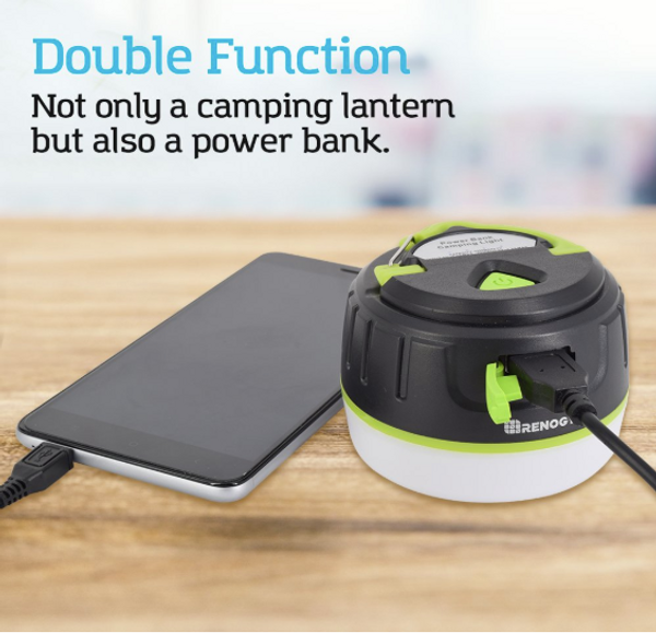 Renogy LED Camping Lanterne rechargeable avec 5200mAh Power Bank