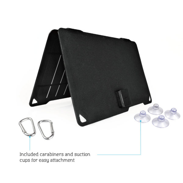 Renogy Panneau solaire portable monocristallin E.FLEX10 avec port USB et une batterie externe de 5000mAh