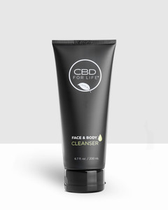 Dissolve dirt, oil and makeup with our multi-tasking, cream-to-foam CBD Face and Body Cleanser. A combination of phytonutrient-rich CBD, essential fatty acids and plant extracts deliver a deep, comfortable and skin-calming clean. Our CBD Face and Body Cleanser is the ultimate multi-tasker. Use our CBD Face and Body cleanser to cleanse your face, wash your body and as a shaving cream. Our CBD Face and Body Cleanser is extremely emollient and is gentle on the skin. After you use our CBD Face and Body Cleanser your skin feels refreshed and reawakened. CBD is a wonderful ingredient to include in a cleanser, especially if you have sensitive skin. CBD is transforming the wellness space and CBD is proving powerful in skincare, too.