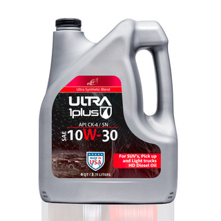 SAE 10W-30 Synthetic Blend Heavy-Duty Motor Oil, API CK-4/SN | Ultra1Plus™