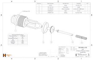 H030246-28 GA BPV Assembly Inconel with 316