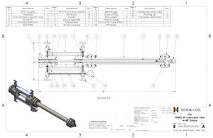 H05122020-003 GA VR Lubricator PBMO 15ksi Flanged Version W 48in Stroke