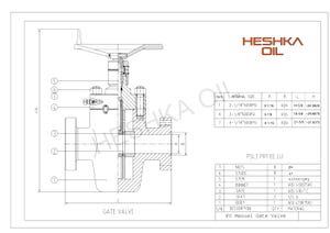 Heshka FC Gate Valve Data Sheet