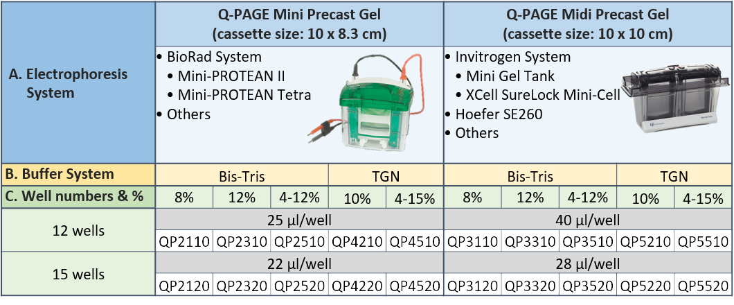 qpage-pre-cast-sds-page-gels-specification-sheet-showing-compatible-gel-systems-lab-supplies-stellar-scientific.png