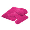 Mary 3 Piece Soft Plush Microfiber Rug Set, Bath Mat, Contour Rug, Lid Cover