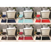 Connie Embossed Foam Plush 3pc Microfiber Bathroom Rug Set, Bath Mat, Contour Rug, Universal Lid Cover, Great Absobent With Anti Slip PVC Mesh Backing, Black, Chocolate, Burgundy, Aqua, Navy, Red …